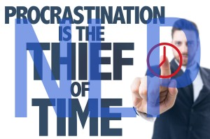 procrastination is the thief of time edit