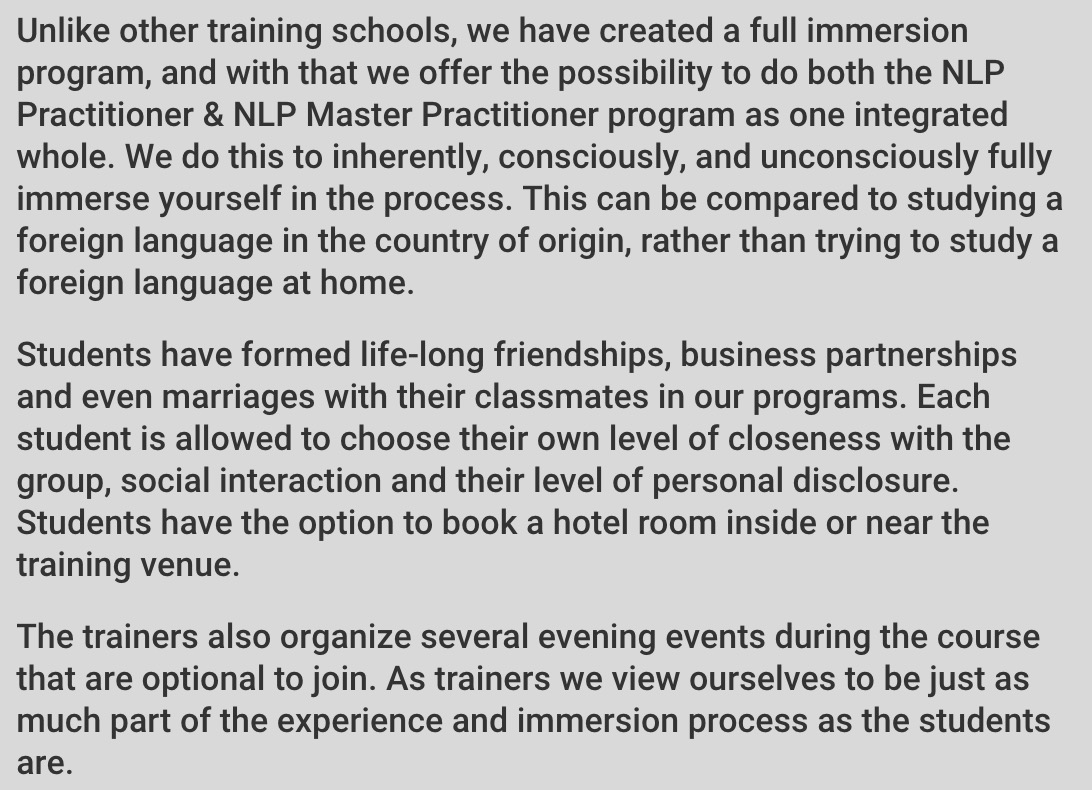 About Our Classes - What is Immersion?