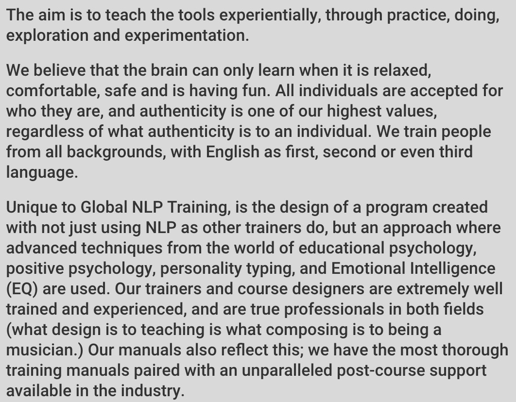 About Our Classes - Method of Teaching