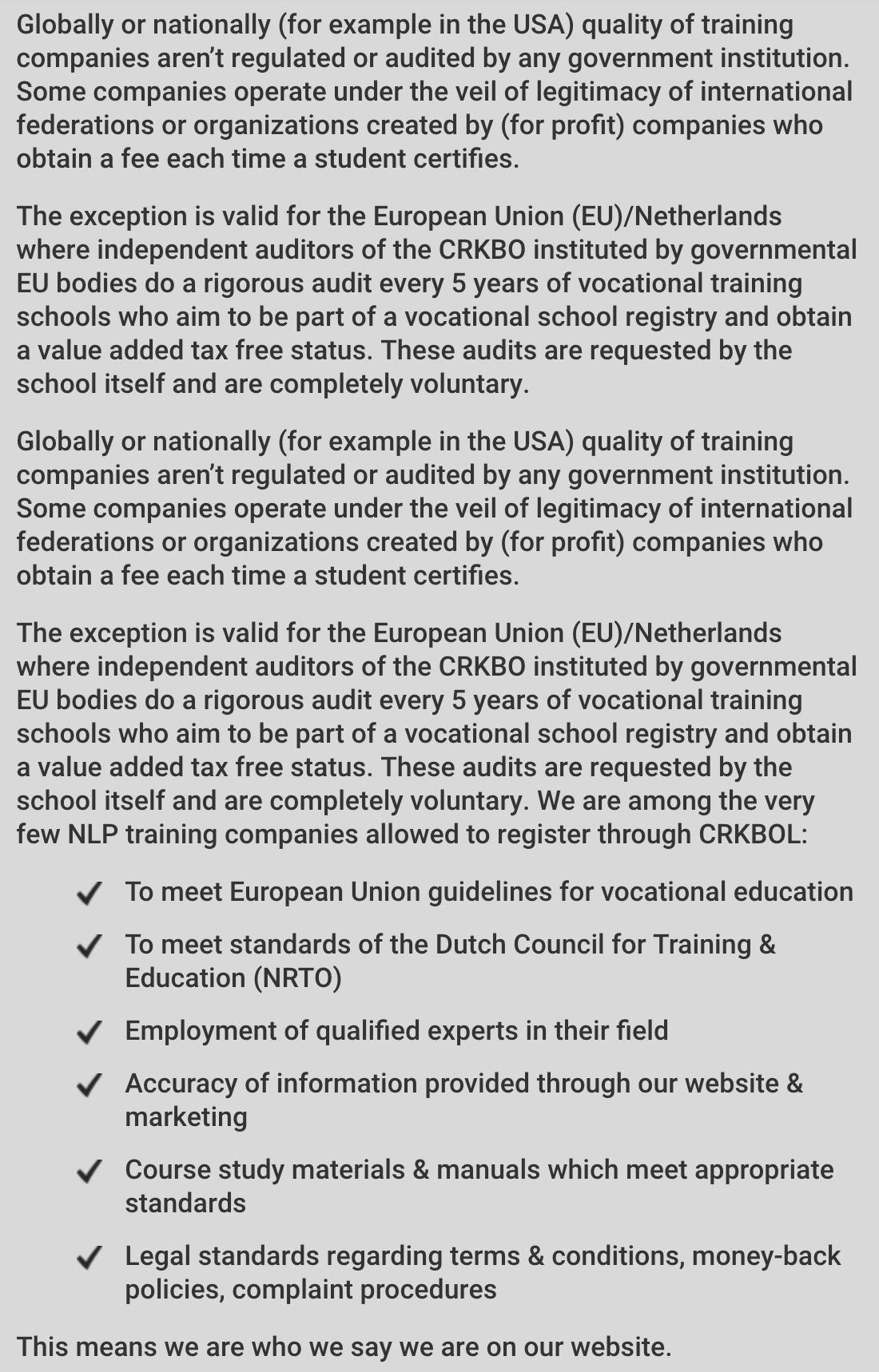 Our Track Record - Official Vocational Training School